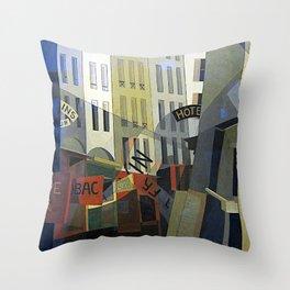 Charles Demuth Rue du Singe qui Peche Throw Pillow