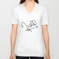 niall horan V-neck T-shirts featuring Niall Horan - One Direction by Moments Design