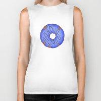 doughnut Biker Tanks featuring Blue Doughnut by elletra