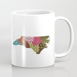 North Carolina State Map Coffee Mug