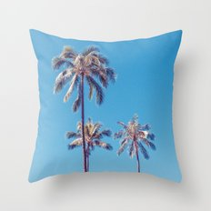 palm tree ver.sunny day Throw Pillow
