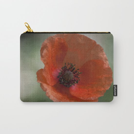 Poppy at backlight 1 Carry-All Pouch