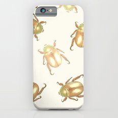luxury golden scarab pattern iPhone 6s Slim Case