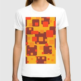 Rectangles red orange yellow pattern Geometric T-shirt