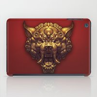 foo fighters iPad Cases featuring Foo Wolf Red by Ilse Gort