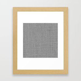 Natural Woven Silver Grey Burlap Sack Cloth Framed Art Print