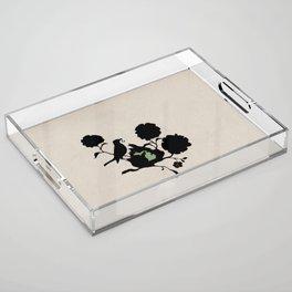 Michigan - State Papercut Print Acrylic Tray