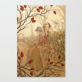 Jane Austen, Mansfield Park - the Garden Canvas Print