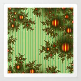 Vintage Christmas fractal Art Print