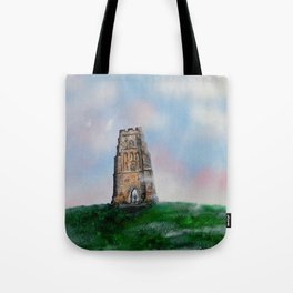 Glastonbury Tor 3 Tote Bag