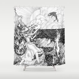 The Fish Girl Shower Curtain
