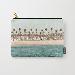 Vintage Newport Beach Print {1 of 4} | Photography Ocean Palm Trees Teal Tropical Summer Sky Carry-All Pouch