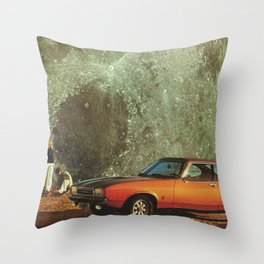 Just another day on earth Throw Pillow