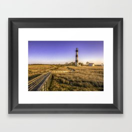 The Lighthouse at Bodie Island Framed Art Print