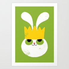 Rabbit King Art Print