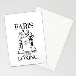 xX PARIS ZOMBIE BOXING Xx Stationery Cards