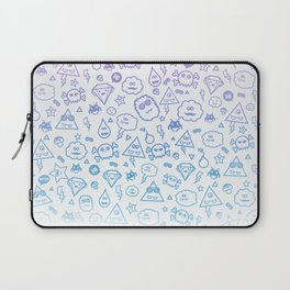 Cute & Sweet Monsters / Funny Clouds and Diamonds Laptop Sleeve