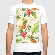 Discover Tropical Power White Mens Fitted Tee MEDIUM