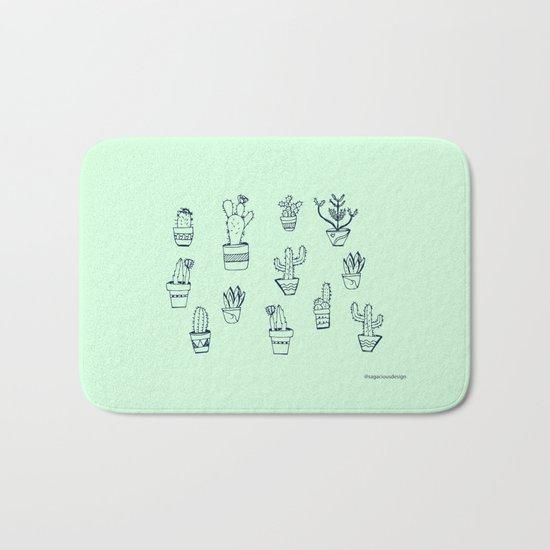 Cactus and Mint Bath Mat