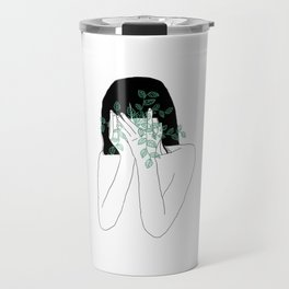 A little bit dissapointed in humanity / Illustration Travel Mug
