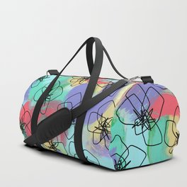 Hibiscus Family no.2 - hibiscus flower illustration floral pattern summer painting Duffle Bag