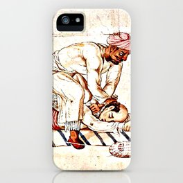 Thugs Strangling Traveller iPhone Case
