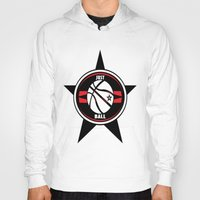 basketball Hoodies featuring BASKETBALL  by Robleedesigns