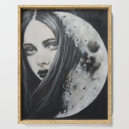 Weeping Heart and the Moon Serving Tray