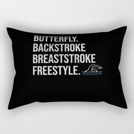 Butterfly Backstroke Breaststroke Freestyle Rectangular Pillow