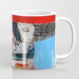 Abstract Mixed Media Compositon V.Threeve Coffee Mug