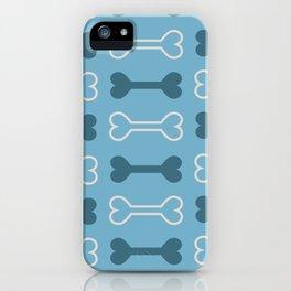 bone surface pattern iPhone Case