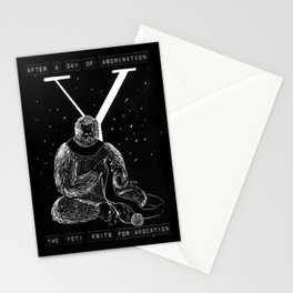Y is for Yeti Stationery Cards