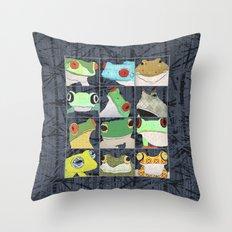 Frogs vertical Throw Pillow