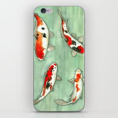 La ronde des carpes koi iPhone & iPod Skin