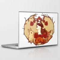 fawn Laptop & iPad Skins featuring fawn by chazstity