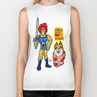 thundercats Biker Tanks featuring SNARF!  The greatest of ALL The Thundercats...  Way cooler than Lion-O! by beetoons