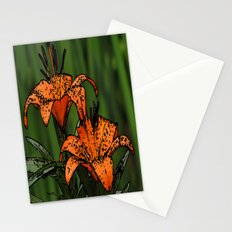 Cartoon Lillies Stationery Cards