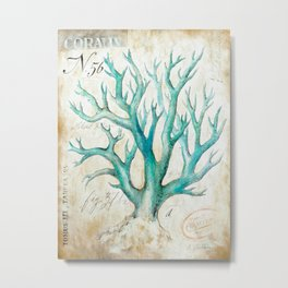 Blue Coral No. 2 Metal Print