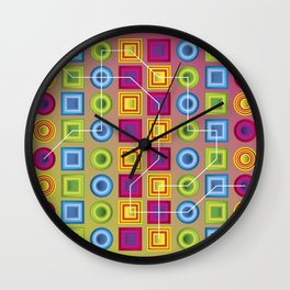 Colour Collage Wall Clock