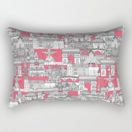 Paris toile strawberry pink Rectangular Pillow