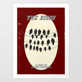 "Alfred Hitchcock's ""The Birds"" Art Print"