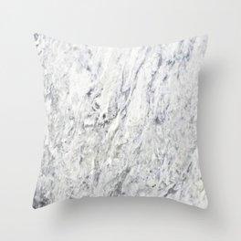 Vintage rustic gray white elegant marble Throw Pillow
