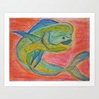 Mahi Glow Art Print
