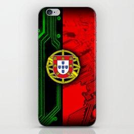 circuit board Portugal (Flag) iPhone Skin