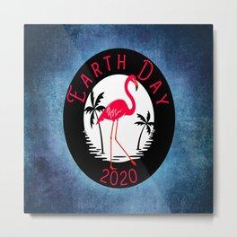 Earth Day 2020 Illustration Metal Print