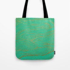 Wind Gold Turquoise Tote Bag