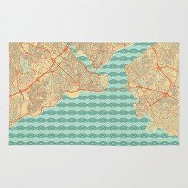 Istanbul Map Retro Rug