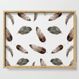 Dark brown Feather Serving Tray