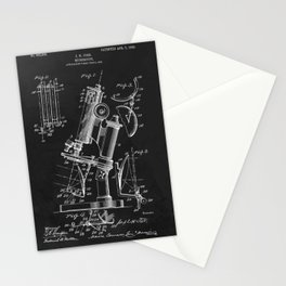 Microscope 1908 Patent Stationery Cards