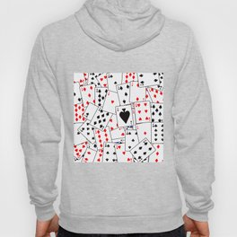 Random Playing Card Background Hoody